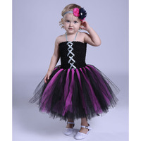 Girls Baby Witch Costume Halloween Girl Tutu Cosplay Dress Kids Fancy Clothing For Party Handmade Children