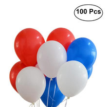 100pcs 12 Inch 2.8g Round Latex Giant Color Balloons For Birthday Wedding Christmas Party (Red & White & Dark Blue)(China)