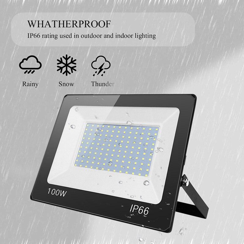 Led 홍수 빛 스포트 라이트 220 v led 램프 방수 ip66 투광 조명 프로젝터 반사판 조명 정원 거리 벽 조명