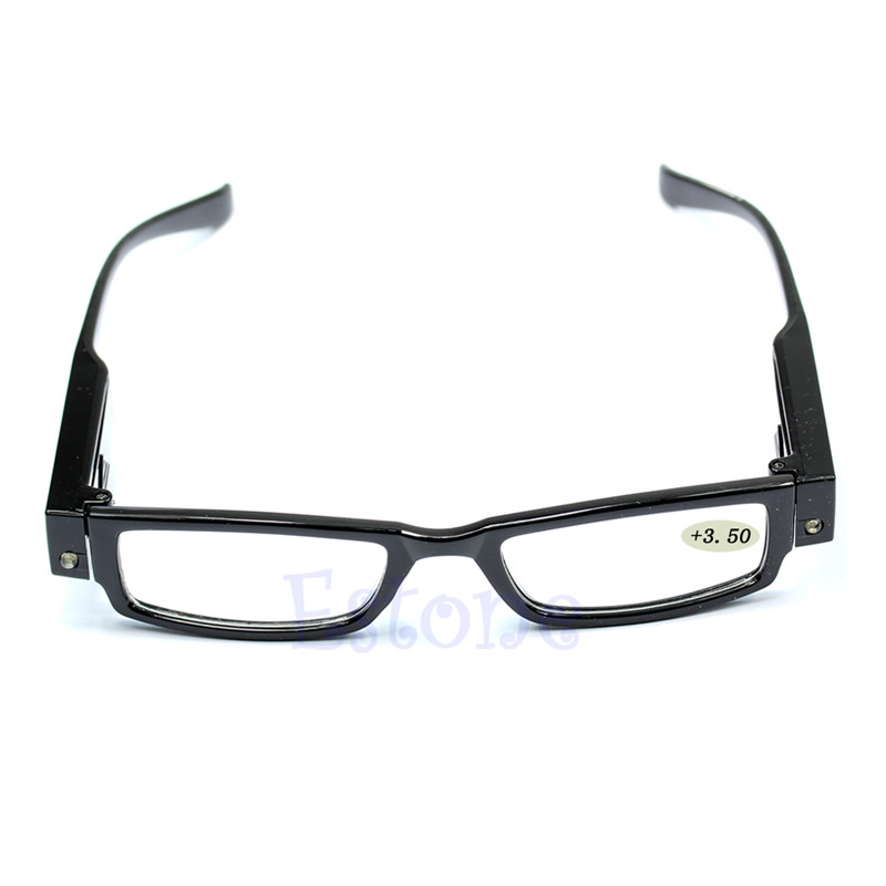 Light UP Multi Strength Eyeglass LED Reading Glasses Spectacle Diopter Magnifier N20_F