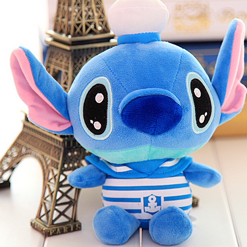 Special cute 1pc 20cm mini cartoon navy Stitch little plush hold font b doll b font