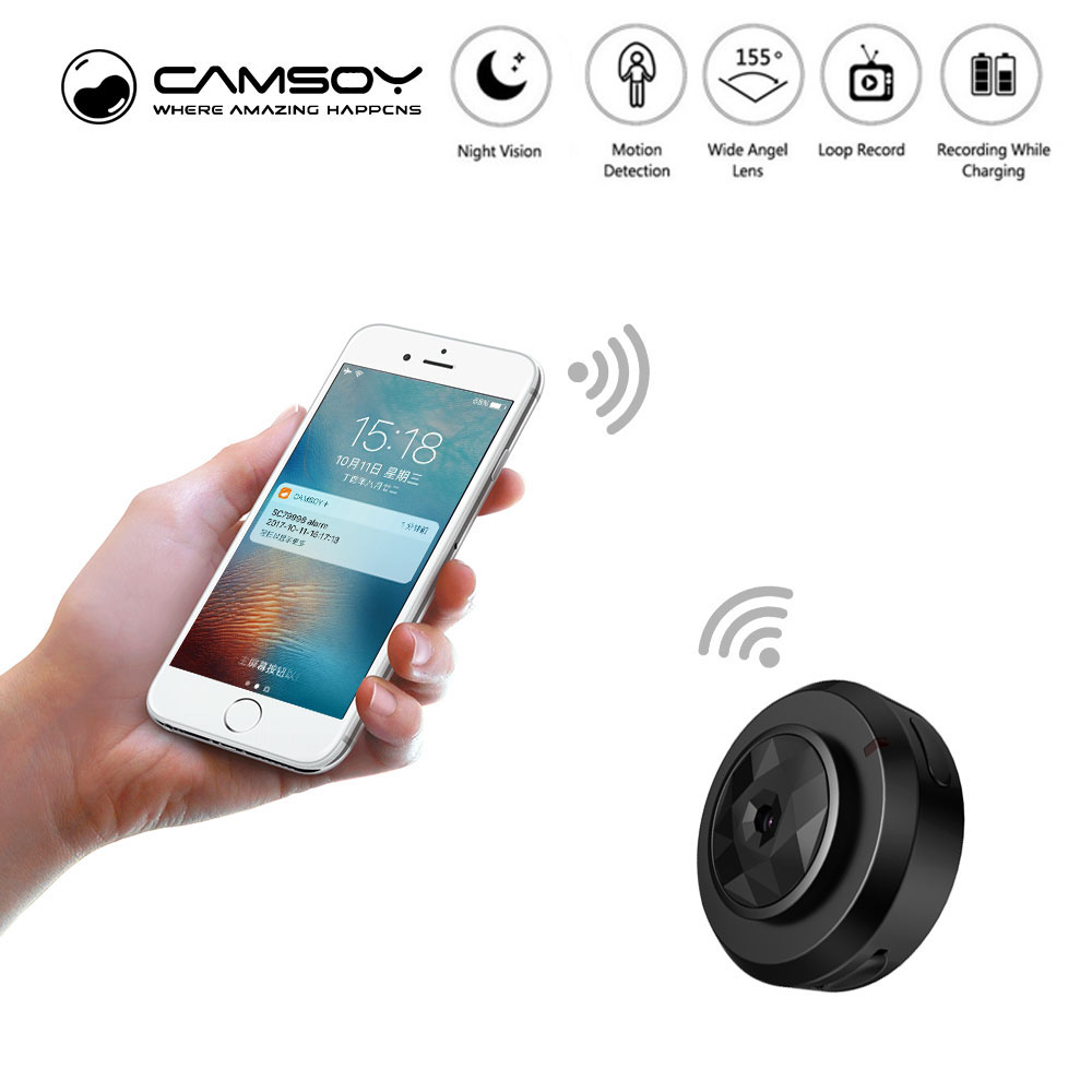 C6 Camsoy Cookycam Micro WIFI Mini smallest Camera HD 720P With Night Vision IP WIFI Cam Home Security Video Camcorder Hidden