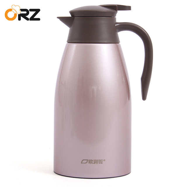 Orz 2l Stainless Steel Vacuum Flask Coffee Tea Thermos Bottle Hot Cold Water Kettle