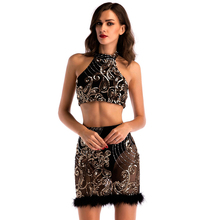 MUXU summer sexy patchwork black sequin dress glitter backless womens clothing jurk bodycon party fashion dresses two piece set