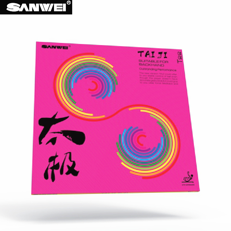 Table Tennis Rubber SANWEI NEW TAIJI PLUS 40+ TAICHI Half-sticky German Style Tension With Sponge Ping Pong Rubber Tenis De Mesa