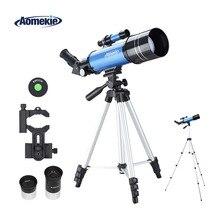 AOMEKIE телескоп с HD 70 мм большой объектив регулируемый высокий штатив телефон адаптер 16X/66X для просмотра Луны начинающих подарок для детей