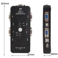 Ingelon 4 port kvm switch USB 2.0 VGA Splitter Printer Mouse Keyboard Pendrive Share Switcher 1920*1440 VGA Switch Box Adapter