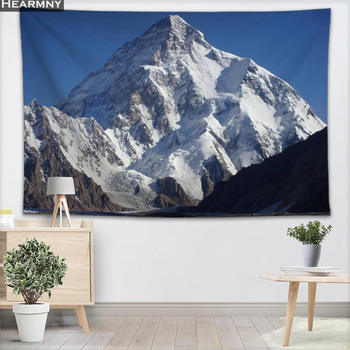 Snow Mountain Tapestry Wall Hanging Decor Christmas Wall Tapestry Show For Home Decoration Camping Tent Travel Sleeping Pad