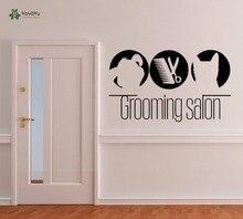 YOYOYU Wall Decal Vinyl Removeable Decoration Domestic Animals Sticker PETS Dog Cat Art Salon Poster YO271