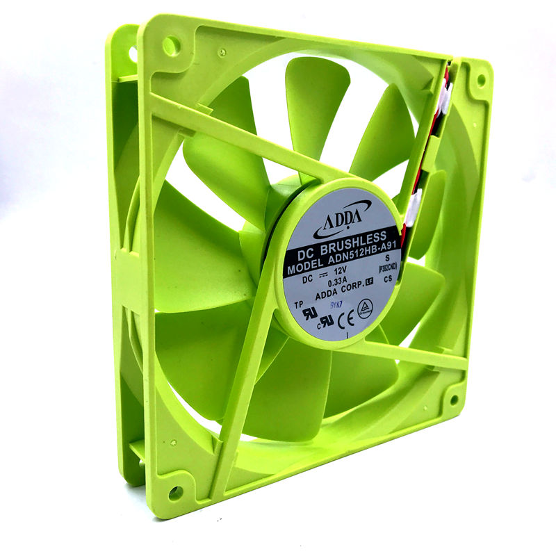Original FOR ADDA Special 13525 ADN512HB-A91 12V Dual Ball Bearing Cooling Fan For 135 * 135 * 25mm 0.33A
