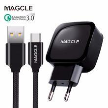 Зарядное устройство Magcle QC3.0 18 Вт, быстрое зарядное устройство 3,0 + usb-кабель Magcle 2A для Samsung, Huawei, xiaomi, Прямая поставка
