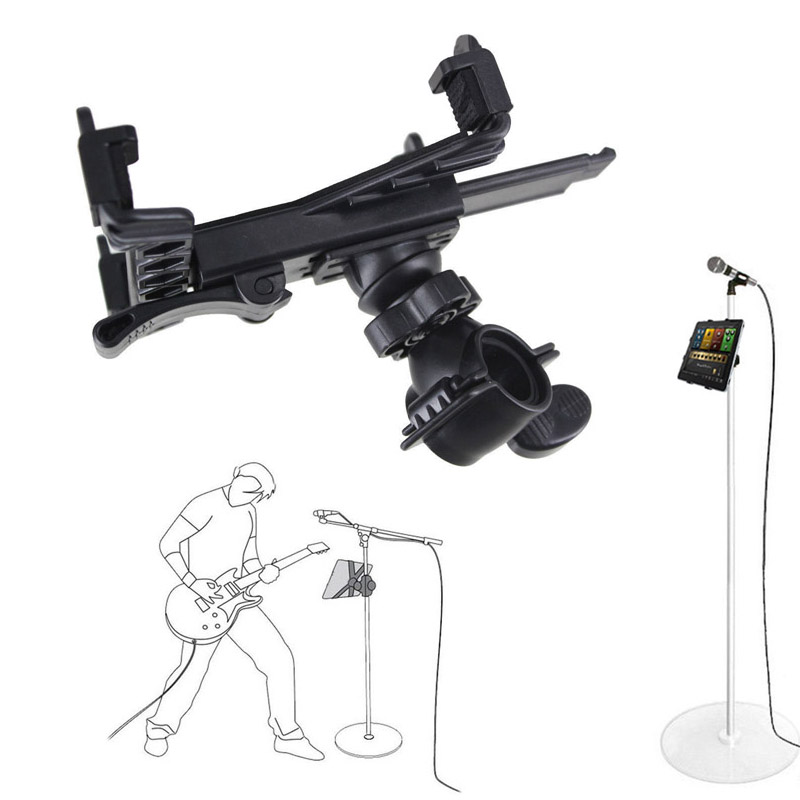 New Music Microphone Stand Holder Mount For 7 to 11inch Tablet iPad Air 5 4 3 2 Samsung Tab QJY99 image