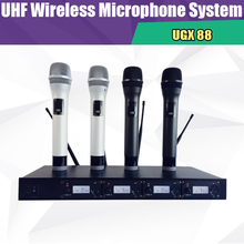 UGX88 skilled one to 4 wi-fi microphone skilled/ stage efficiency assembly the sound field/condenser microphone