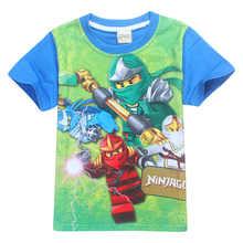 Boys T-shirts 2018 Summer Kids Ninjago T Shirts Cotton Top Tees Boys Girls tshirt Costume Boys Clothes Children Clothing 3-10y