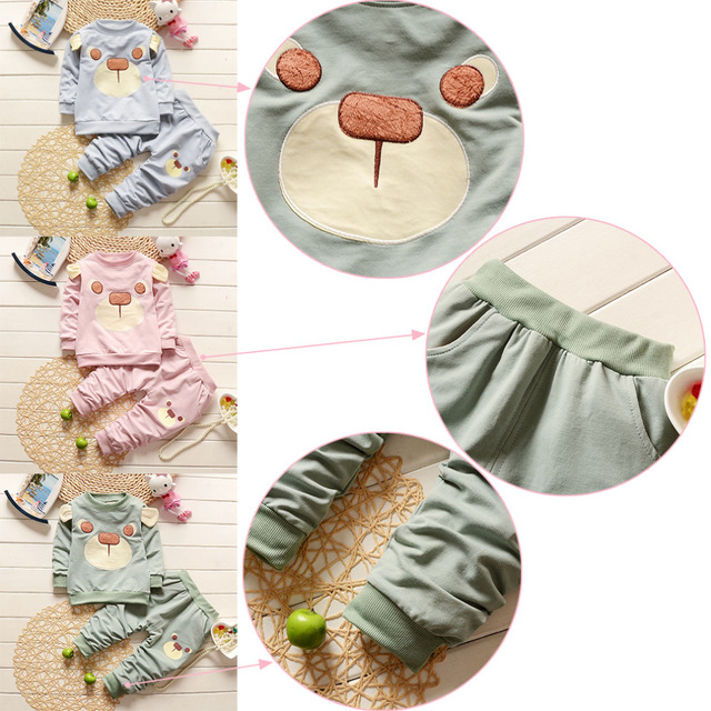 New Fashion 2pcs/set Cotton Spring Autumn Winter Baby Boy Girl Clothes Set For Gentleman Suit Pullover (Shirt+Pants)Infant Set