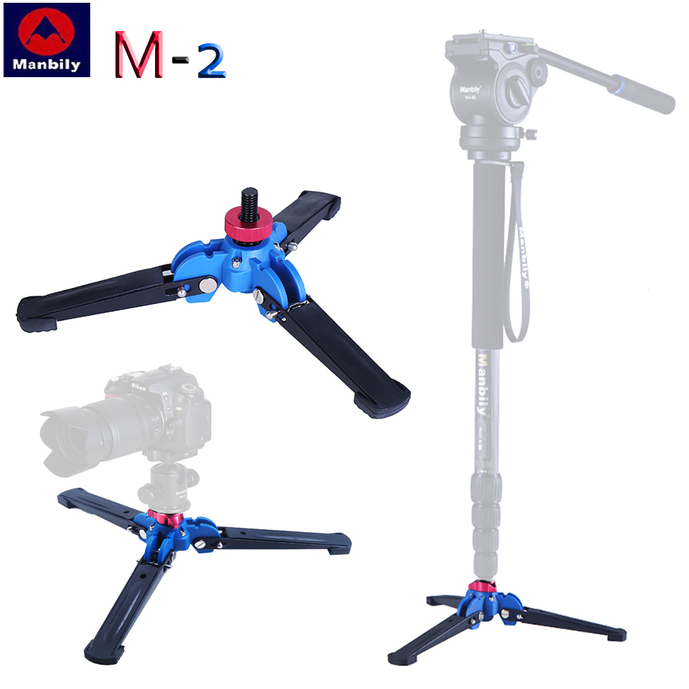 M-2 Hydraulic Universal Mini Three Feet Support Stand Base Monopod Camera desktop stand for Ballhead with 3/8 screw