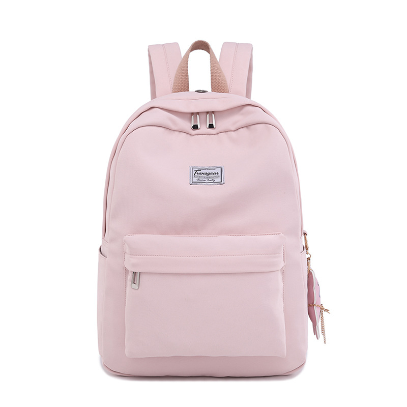 Waterproof Backpack High-School Women New Solid Nylon for And Junior Stu The-Trend Korean-Version
