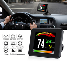 3.9 inch OBD2 HUD HD Head Up Display Car Speed Windshield Projector Head-Up Display Speedometer Auto Alarm Oil Water Temp цена и фото
