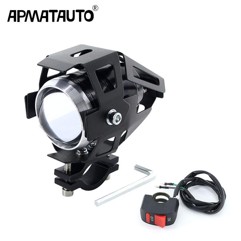 Apmatauto 1PCS White 10w Motorcycle Headlight Moto led lights motorbike font b lamp b font U5