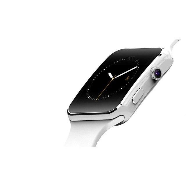 Nova Chegada X6 Homens Relógio Inteligente com Câmera Touch Screen Suporte SIM Card TF Bluetooth Smartwatch Relogio Reloj Inteligente