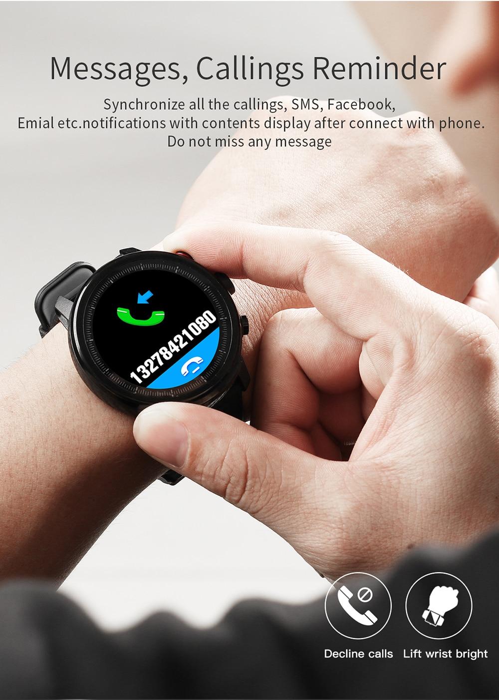 Person - L5 Smart Bracelet Fitness Tracker Smart Watch Waterproof IP68 Men Smart Watch Bluetooth IOS Android Smart Wristband