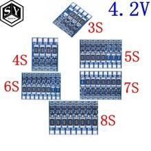 3s 4S 5S 6s 7s 8s 21v 4.2v li-ion balanceador placa 18650 li-ion balncing carga completa bateria equilíbrio função placa de proteção