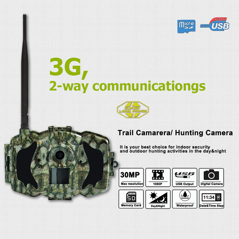 Bolyguard 30MP MMS/GPRS 3G Cámara de la caza de la fauna juego Scouting 940nm IR visión nocturna 1080HD 100ft seguridad de detección cámara