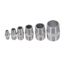 цены Male to Male Hex Nipple Threaded Reducer Pipe Fitting Stainless Steel 304 DN6 DN8 DN10