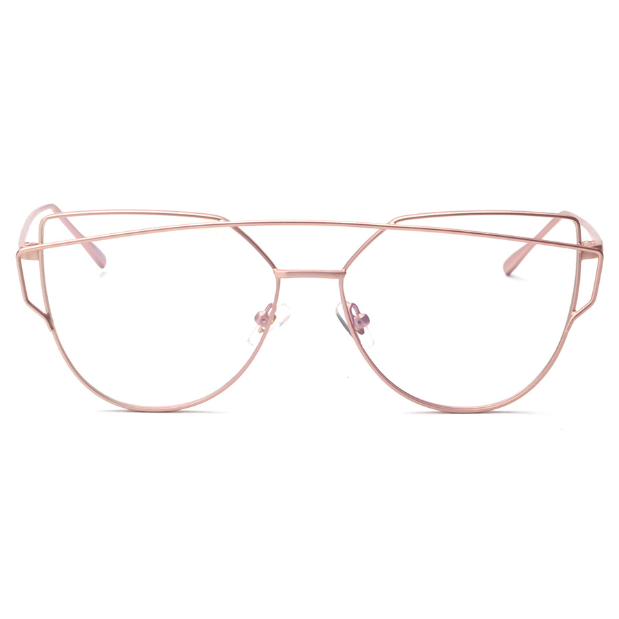 8bffdd507a7 Alloy Metal Cat Eye Clear Lens Rose Gold Glasses Frame Eyeglasses  Prescription Spectacle Frames Myopia Computer Eyewear Oculos-in Eyewear  Frames from ...