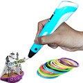 Hot Pena de Desenho 3D para 3D de impressora 3d Pen com Tela caneta de pintura para Presente de Aniversário e de Natal 3D RP-100B com PLA filamento