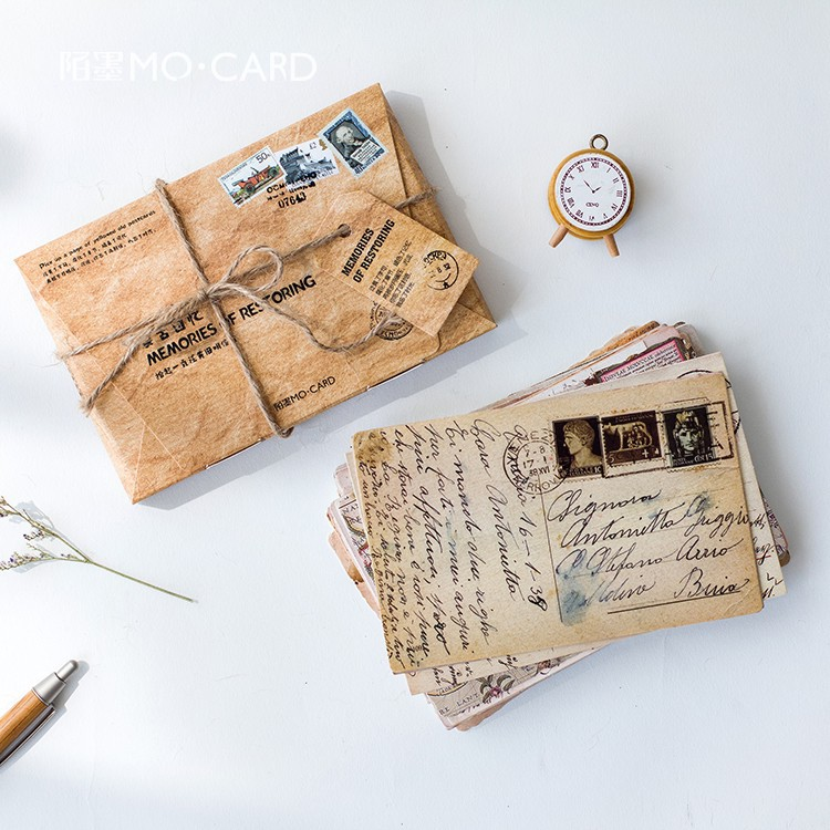 30 Pcs/Lot Vintage Ticket Sundries Life Stamps Postcard Greeting Card Christmas Card Birthday Card Gift Cards XF02