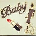 10 unids mujer del lápiz labial flotante del bebé del esmalte encantos de la aleación colgante para pulseras collares DIY joyería moda mujer accesorios