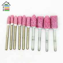 10pcs Abrasive Mounted Stone Rotary Tool Grinding Polishing Wheel 1/8 Shank For Dremel Grinder