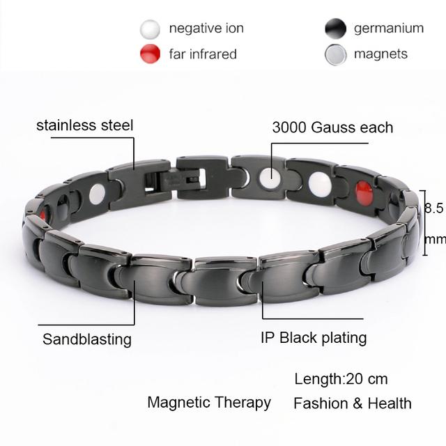 Oktrendy Women Slim Bracelet Magnetic Therapy Energy Healing Bracelets In Black Bangle Best Friend Bracelet Femme