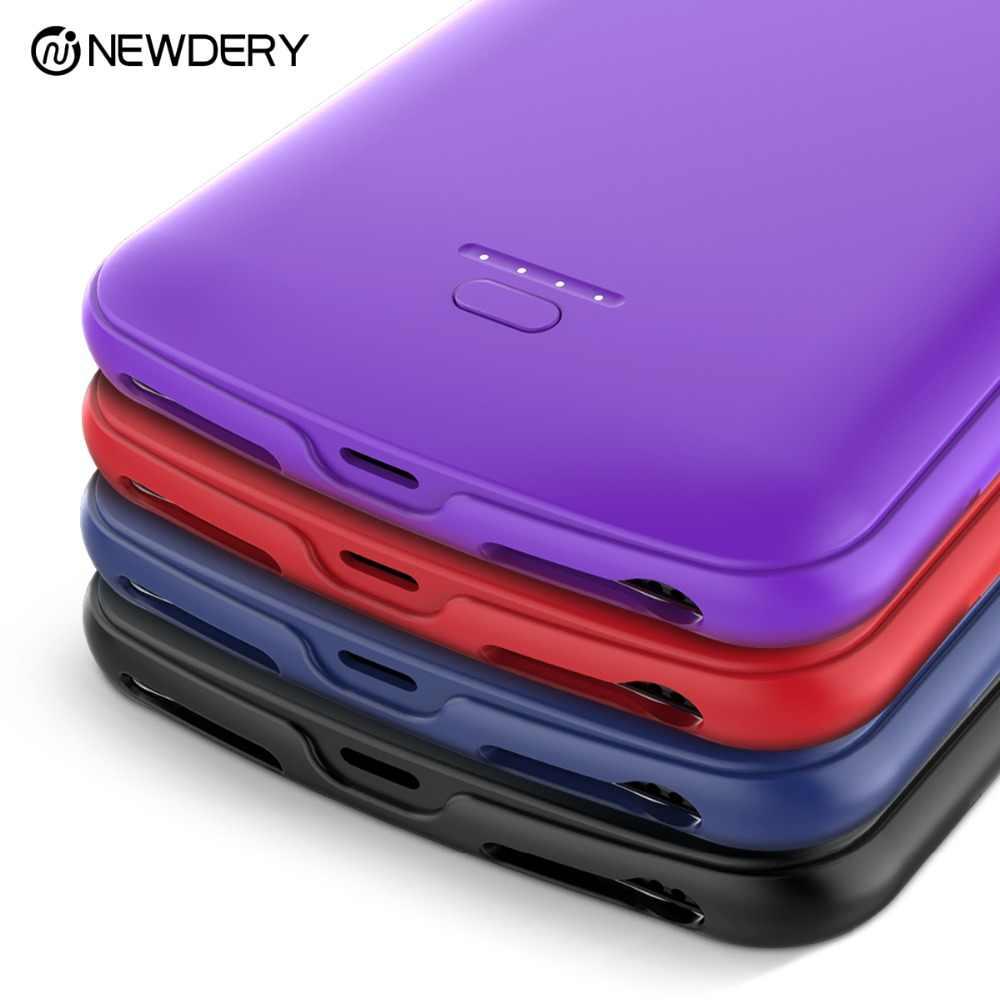 NEWDERY Full Cover giảm giá Power Bank Case cho iPhone X XS XR Max 7 + 8 + SE 5S 5500mAh pin dành cho iPhone 5 10 6S 7 8 Plus