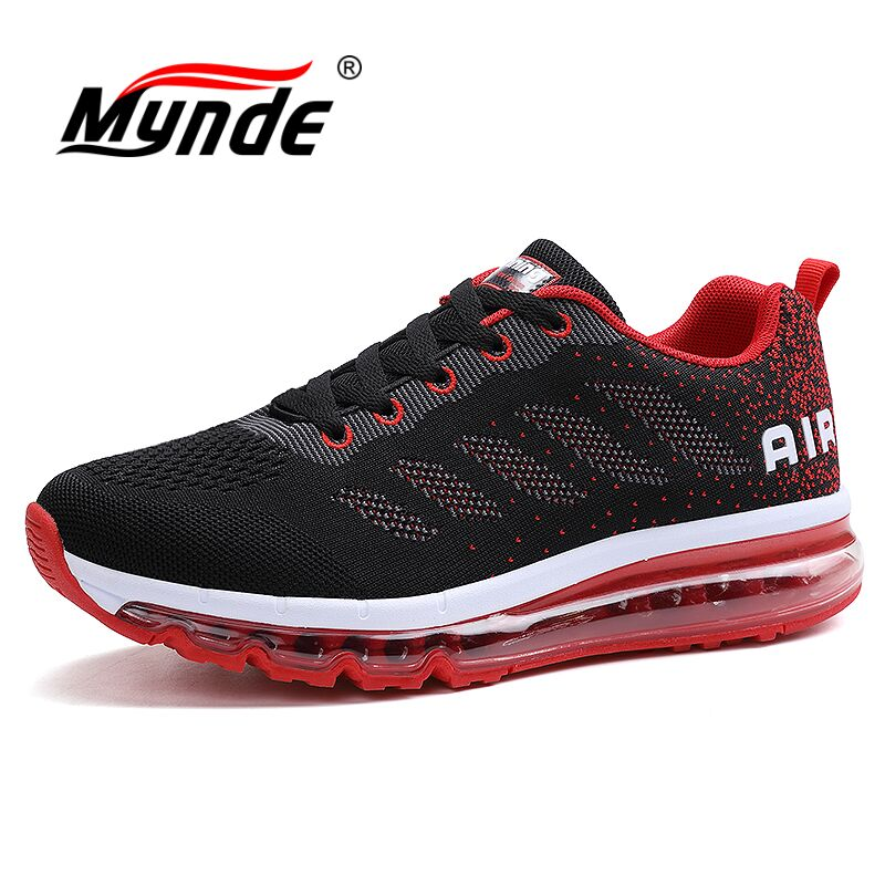 MYNDE men's running shoes women's sports sneakers breathable mesh athletic walking shoes size 35-44 for outdoor sports jogging