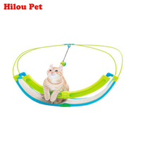 Multifunction Pet Cat Hammock Funny Hanging Swing Bed Sofa Rest House With Bells Ball for Pets Kitten Ferret