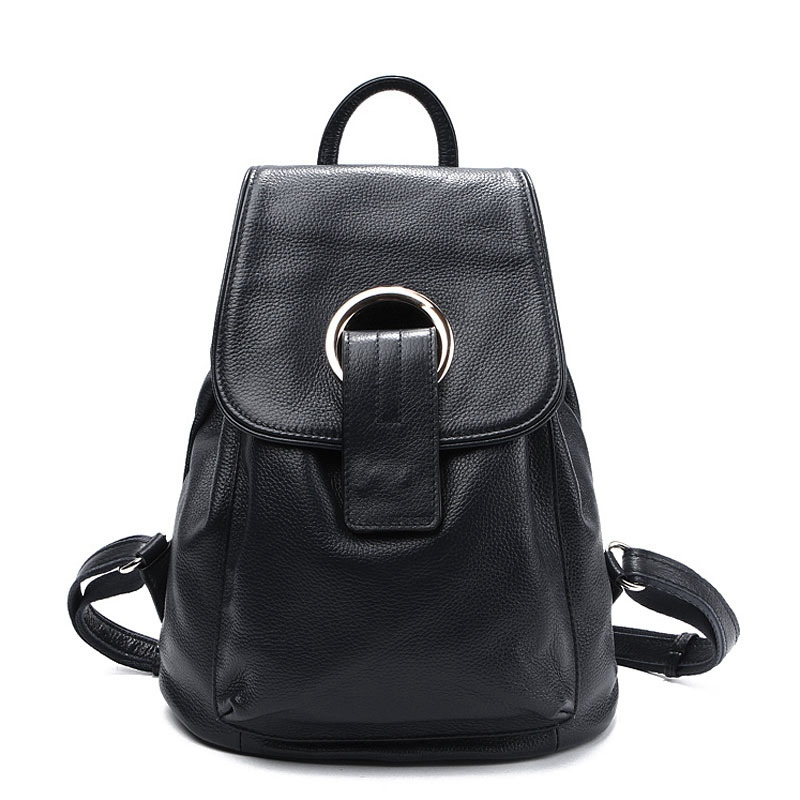 ФОТО 2017 Genuine Leather School Backpacks Female Sac A Dos Designer Bagpacks Luxury Girls Backpack Casual Women Double Shoulder Bags