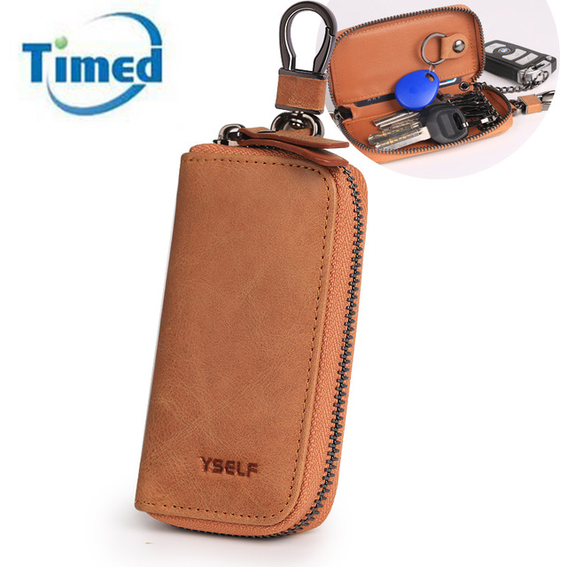 Hot Sale 2017 New Man's Key Wallets Solid Key Holder Head Layer Leather Causal Key Bag  High Quality Mulitfunction Key Case