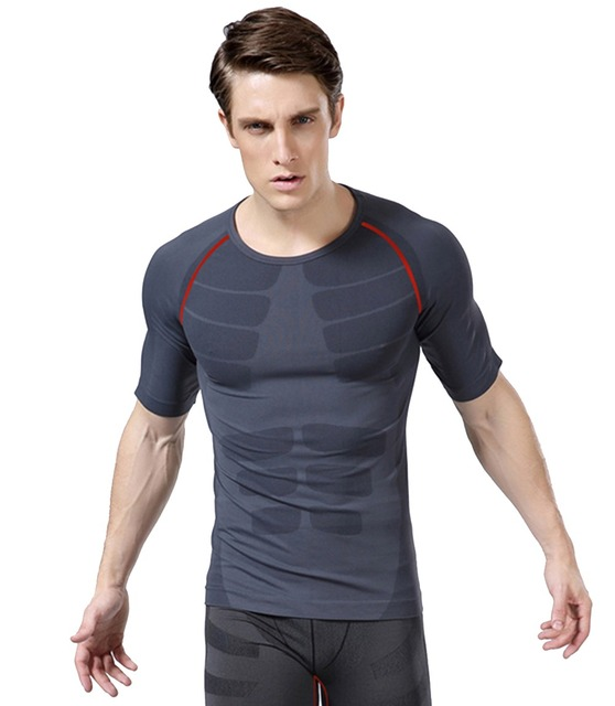 f6da0782 New Mens Brand Gym Sports Shirts Bodybuilding Equipment Fitness Body Armour  Compression Under Base Layer T-Shirts Athletic Tops