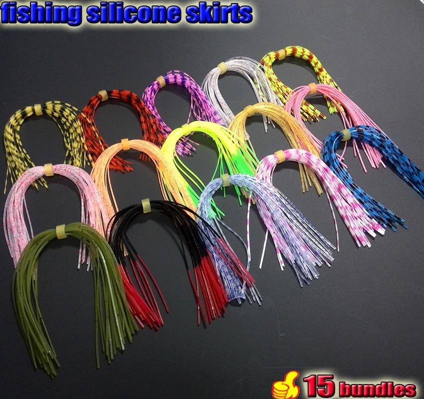 Tigofly 20 Piezas Faldas de Silicona DIY SpinnerBait Buzzbait Calamar Goma Jig se/ñuelos Hacer Streamer Pesca Mosca Atado Materiales