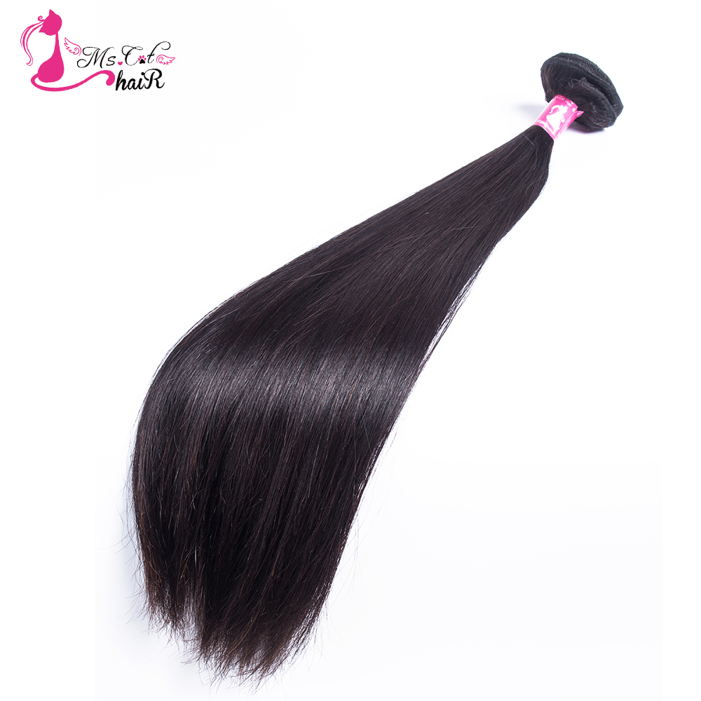 Peruvian Straight Hair Ms Cat Hair Products 1 3 4 Pieces Natural Color 100 Human Hair