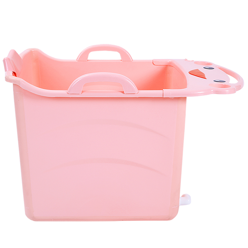 New Kids Large Folding Baby Bathtub Thickened Vertical Bath Bucket ...