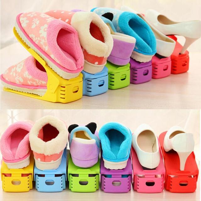 1pcs Shoes Rack Shoes Organizer Space Saving Shoes Tree Stand Shoe Storage  Holder Adjustable Magic 2