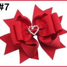 30 шт 5-5,5 ''стразы на День святого Валентина слоистые волосы банты Твердые алмазные большие заколки для волос девушки аксессуары для волос с