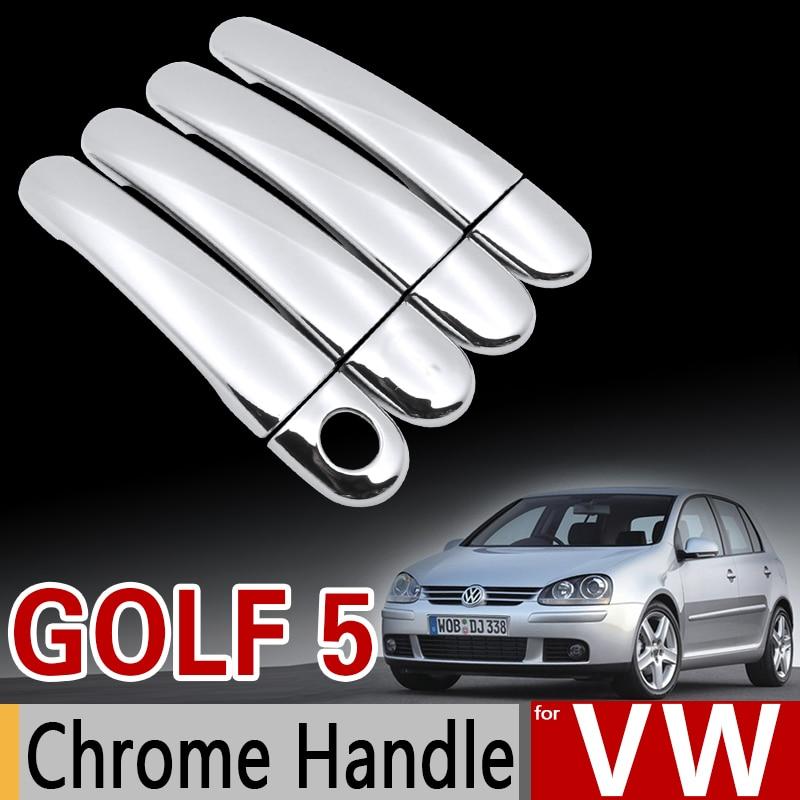 for vw golf 5 mk5 chrome handle cover trim set for. Black Bedroom Furniture Sets. Home Design Ideas