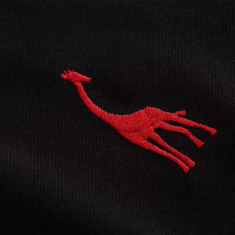 NEGIZBER 新マンポロシャツメンズカジュアル鹿刺繍コットンポロシャツメンズ半袖高数量ポロ男性
