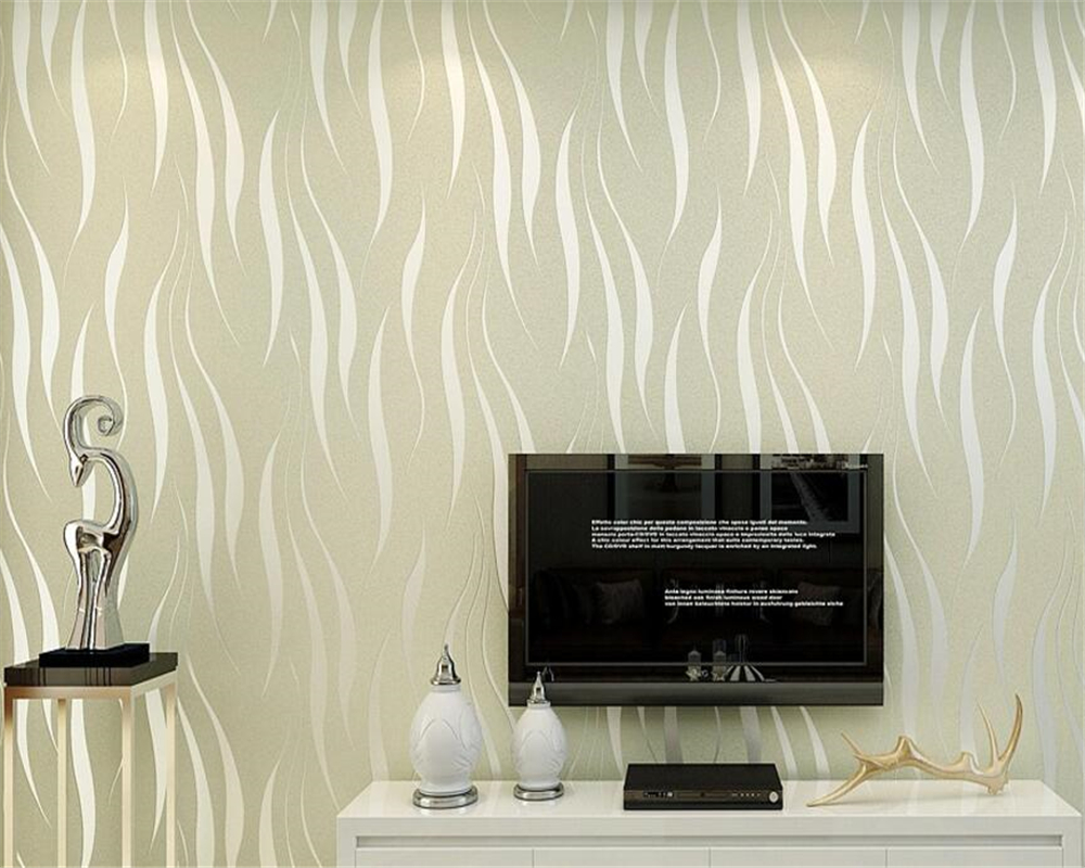 Slaapkamer Paars Wit : Beibehang moderne eenvoudige water gras patroon behang wit beige