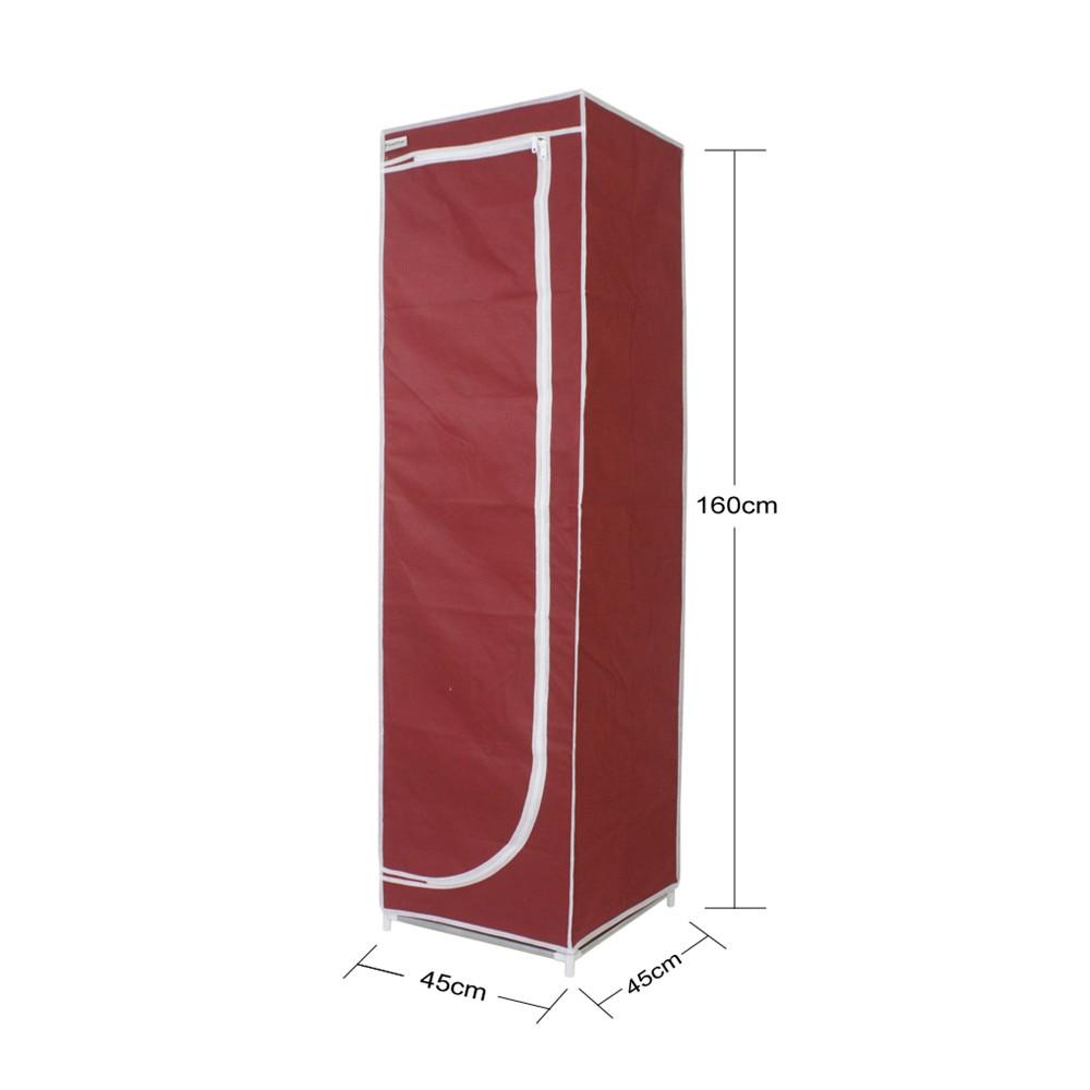 Finether Tall 5 Narrow Shelf Storage Unit,Portable Closet Storage Organizer  Clothes Wardrobe Red In Storage Holders U0026 Racks From Home U0026 Garden On ...
