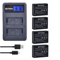 4 Pc NP-W126 NP W126 NPW126   Batteries  +LCD USB Dual Charger for Fujifilm FinePix HS30EXR HS33EXR X-Pro1 X-E1 X-E2 X-M1 X-A1 X-A2